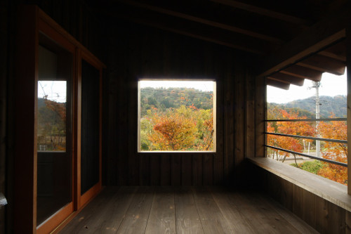 2階テラスからの紅葉